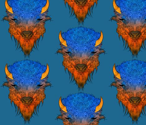 Big Buffalo fabric by jadegordon on Spoonflower - custom fabric