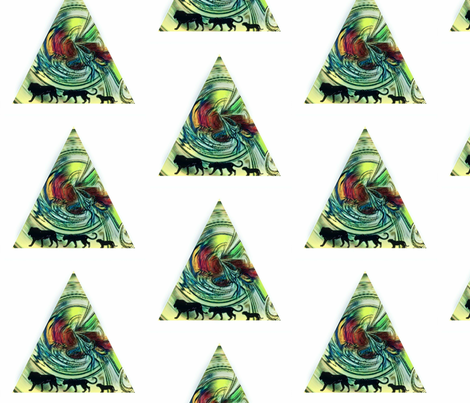 Family of Lions fabric by peachypoo on Spoonflower - custom fabric