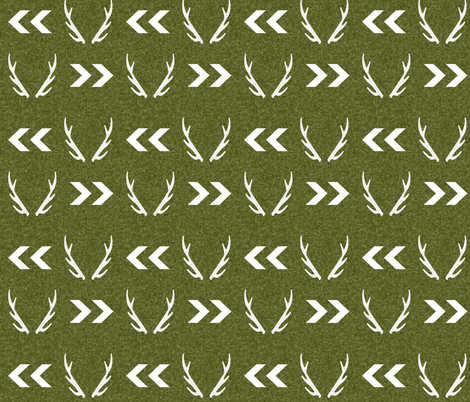 antler camo deer woodland nursery boy fabric  fabric by charlottewinter on Spoonflower - custom fabric