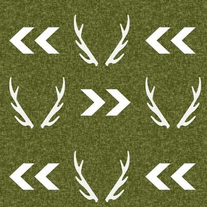 antler camo deer woodland nursery boy fabric
