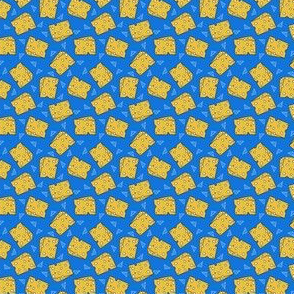 cheese // swiss cheese food novelty blue and yellow chef kitchen funny print