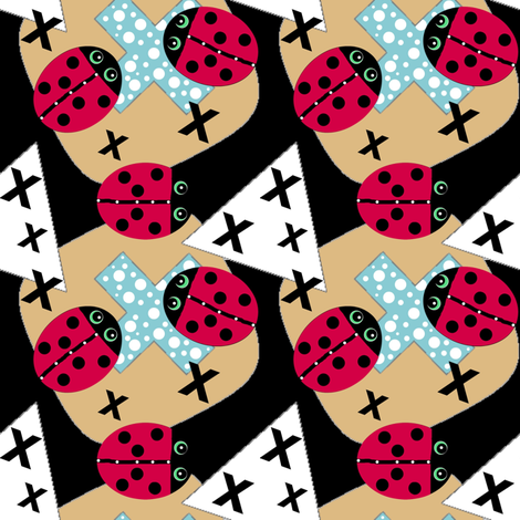 Ladybug + X = Why  / med  fabric by franbail on Spoonflower - custom fabric