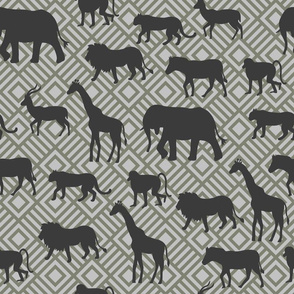 Wilds of Africa Animals Gray