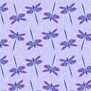 Dragonfly Dance blue purple
