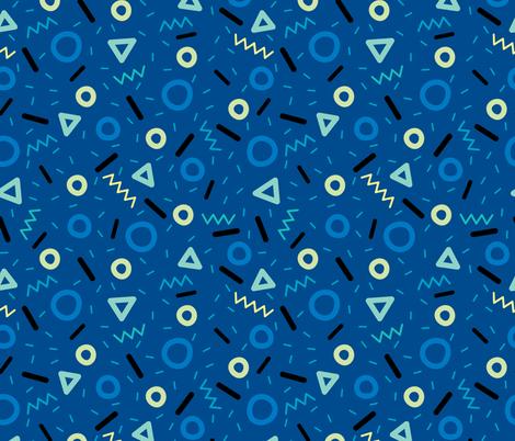 Trendy Macaroni Medium Dark fabric by hollybender on Spoonflower - custom fabric