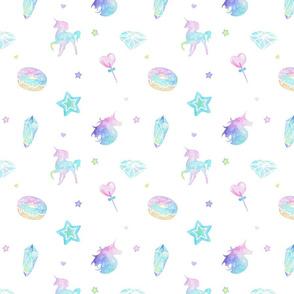 Pastel Watercolour Unicorn