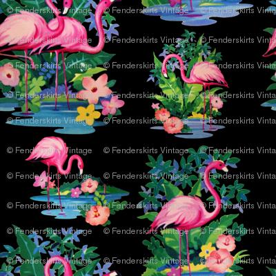 Kitschy Pink Flamingos