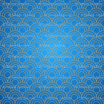 Seamless Chinese Scale Pattern