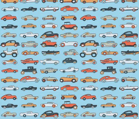 Classic Cars 1 fabric by nicebutton on Spoonflower - custom fabric