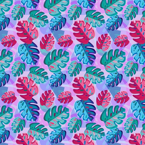 Colored monster leaves