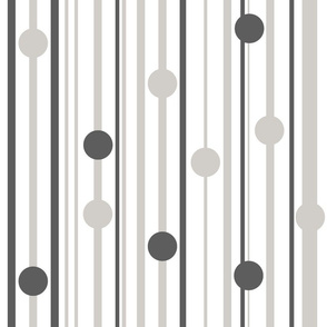 stripe with circles pattern