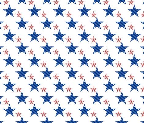 Stars patriotic blue and red fabric by danira on Spoonflower - custom fabric