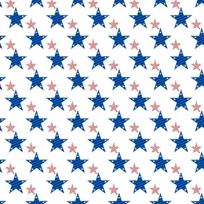 Stars patriotic blue and red