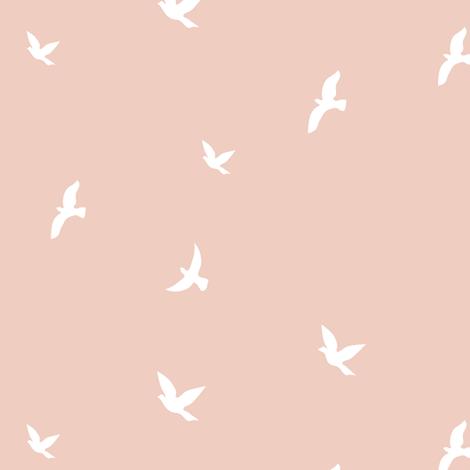 Birds - Blush fabric by kimsa on Spoonflower - custom fabric
