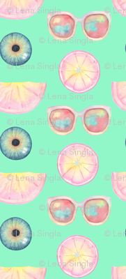 eyes on fruits