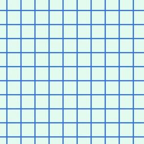 Square Grid Mint - Blue