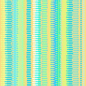 Boardwalk Stripes Turquoise on Gold 450