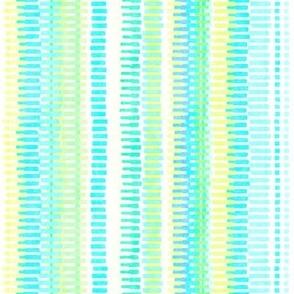 Boardwalk Stripes Turquoise Lime on White 450