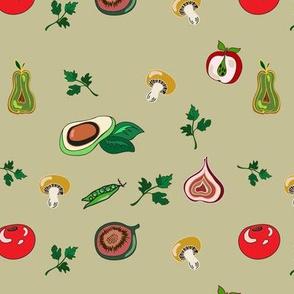 vegetables fruit texture