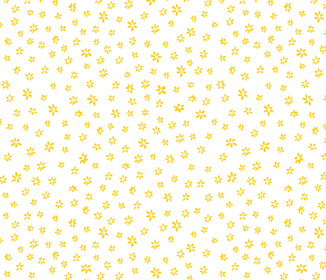 Tiny flowers in yellow white fabric by tatiabaurre on Spoonflower - custom fabric