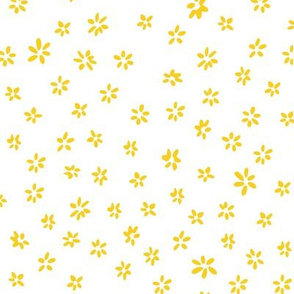 Tiny flowers in yellow white