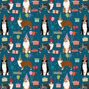 Australian shepherds (small scale) red and blue merle sapphire birthday