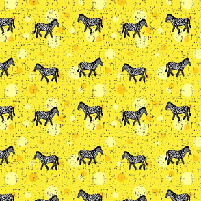 Zebras on yellow