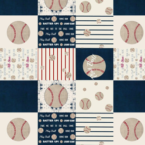 baseball quilt 14 - wholecloth