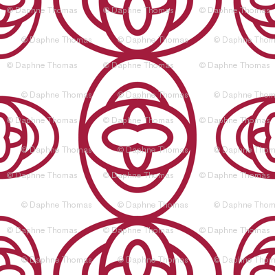Red Ovals on White