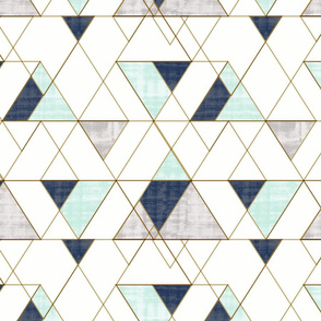 Mod Triangles Vintage_Navy Mint_white