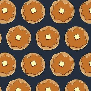 pancakes - dark blue