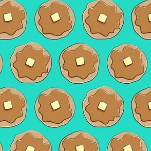 pancakes - teal