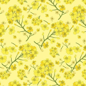 Floral Love of Mustard in Yellow