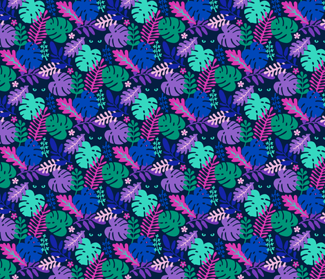 Mysterious Jungle fabric by magentayellow on Spoonflower - custom fabric