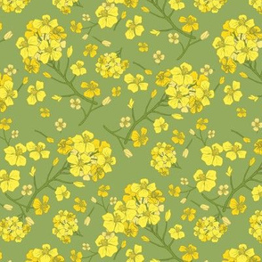 Floral Love of Mustard in Green