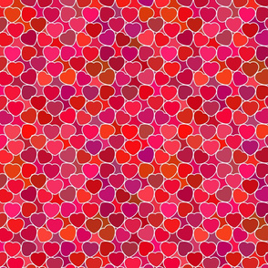 Hearts about Love Romantic Pattern