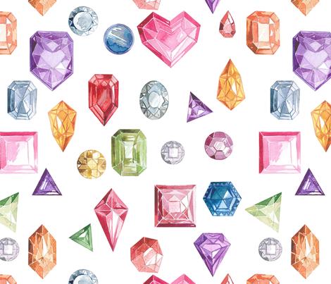 Luxurious pattern of precious stones fabric by zazulla on Spoonflower - custom fabric