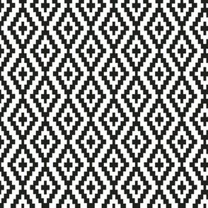 Seamless original vintage black and white pattern