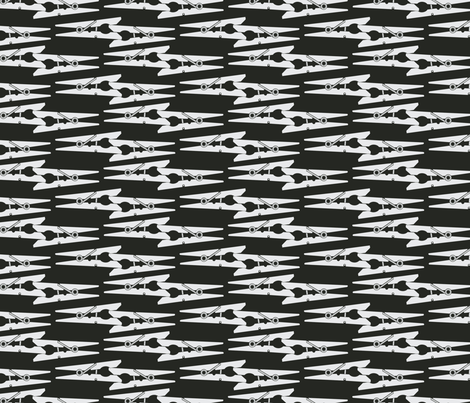 pin_pattern _black fabric by zazulla on Spoonflower - custom fabric