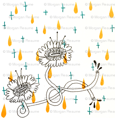 Orange-drop-and-flowers-pattern-tile_preview