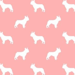 french bulldog pet quilt d silhouette coordinate pink