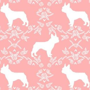 french bulldog pet quilt d silhouette coordinate floral