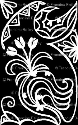 Familiar Drift in black & white