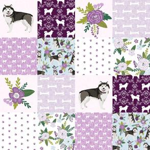 alaskan malamute cheater quilt pet quilt c floral nursery