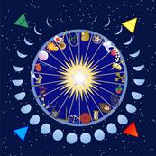 Tarot w pentacle & moons