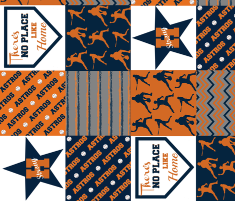 photo relating to Astros Printable Schedule referred to as Houston Astros wallpaper - nhuntsman - Spoonflower