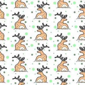 Deer, green dot