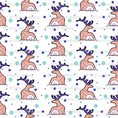 Deer, blue and green dotts