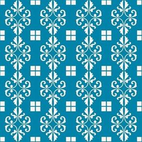 Blue Diamonds and Squares