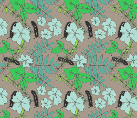 Millipede garden fabric by anywherelane on Spoonflower - custom fabric